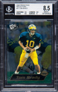 Football Cards:Singles (1970-Now), 2000 Press Pass Tom Brady Reflectors #37 BGS NM-MT+ 8.5. ...