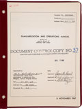 """Explorers:Space Exploration, Apollo 11: NASA A7L Spacesuit """"Familiarization and Operations Manual"""", April 8, 1968, Directly From The Armstrong Family C..."""