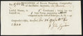 Colonial Notes:Connecticut, Connecticut Ralph Pomeroy Comptroller Receipt 6 Pounds Dec. 24,1790 Choice Crisp Uncirculated.. ...