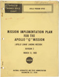 """Explorers:Space Exploration, Apollo 11: NASA """"Mission Implementation Plan for the Apollo 'G' Mission"""" Dated March 13, 1969, Directly From The Armstrong..."""