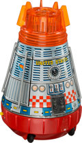 """Explorers:Space Exploration, Toy: """"Super Space Capsule"""" Tin Litho Toy by S. H. Horikawa of Japan. ..."""