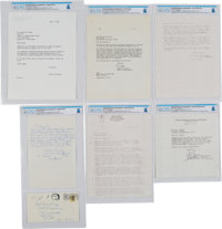 Five Miscellaneous Correspondences Directly From The Armstrong Family Collection™, all Certified and Encapsulated by Col...