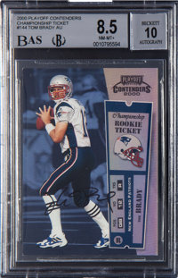 2000 Playoff Contenders Tom Brady Championship Ticket Autograph #144 BGS NM-MT+ 8.5 - 10 Autograph - Numbered 82/100