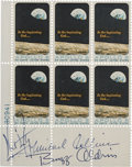 "Explorers:Space Exploration, Apollo 11 Crew-Signed ""Apollo 8"" Plate Block of Six...."