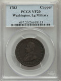 1783 COPPER Washington & Independence Cent, Large Military Bust VF20 PCGS. PCGS Population: (8/266). NGC Census: (9/...