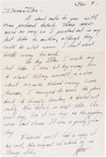 Explorers:Space Exploration, Neil Armstrong Korean War Autograph Letter Signed to His Father Regarding His Plane Being Hit by Enemy Fire. ...