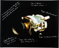Explorers:Space Exploration, Apollo 13: Jack Lousma Signed and Extensively Annotated Large Damaged Service Module Color Photo with Photographic Provenance....