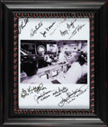 Explorers:Space Exploration, Apollo 13: Mission Control Celebration Photo Signed by Fred Haise, Gene Kranz, Jack Lousma, Joe Kerwin, and Six Others. ...
