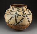 American Indian Art:Pottery, A Large Santo Domingo Polychrome Jarc.