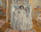 Frederick Carl Frieseke (American, 1874-1939) The White Gown, 1923 Oil on canvas 25-1/2 x 32 inches (64.8 x 81.3 cm)
