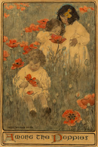 Jessie Willcox Smith (American, 1863-1935) Among the Poppies, The Child in a Garden, Scribner's Magazine interi