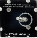 Explorers:Space Exploration, NASA: Little Joe II Lucite Display Directly From The Armstrong Family Collection™, Certified by Collectibles Authentication Gu...