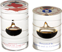 Marathon Oil: '83 and '85 Barrel Displays Directly From The Armstrong Family Collection™, Certified by Collectibles Auth...