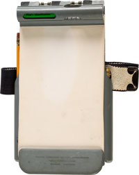 NASA: Neil Armstrong's Flight Research Center Test Pilot's Kneeboard Circa 1960, Directly From The Armstrong Family Coll...