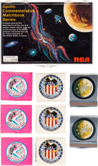 Apollo: Large Lot of Apollo Mission Matchbooks Directly From The Armstrong Family Collection™ Certified Collectibles Aut...