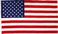 Apollo 11: U.S. Flag Flown over the Capitol on July 20, 1969, Presented to Neil Armstrong With Transmittal Certificate S...