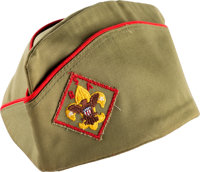 Boy Scouts: Garrison or Flat Field Hat Owned and Worn by Neil Armstrong Directly From The Armstrong Family Collect
