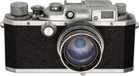 Neil Armstrong's Personal Canon Model III 35mm Rangefinder Camera, circa 1951, with Signed Case Directly <