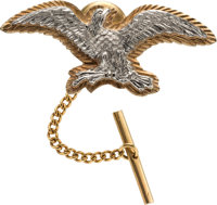 Jewelry: Neil Armstrong's 14K Gold Eagle Tie Tack Directly From The Armstrong Family Collection™, Certified by Collectib...