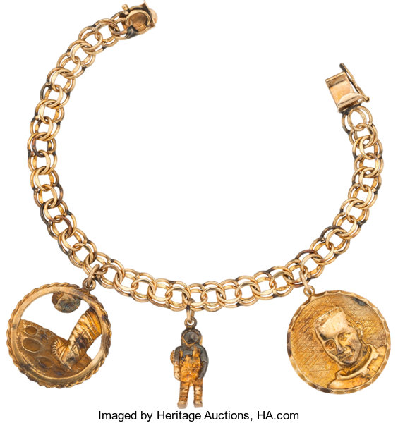 Explorers E Exploration Jewelry Janet Armstrong S Gold Charm Bracelet In 10k Withthree