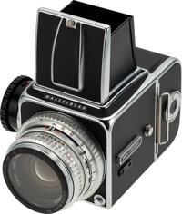 Neil Armstrong's 1970 Model Hasselblad 500C Camera with Zeiss Planar f/2.8, 80mm Lens and Original Box, Directly F