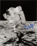 Explorers:Space Exploration, Edgar Mitchell Signed Apollo 14 Lunar Surface Photo with Novagraphics COA. ...