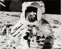 Explorers:Space Exploration, Alan Bean Signed Apollo 12 Lunar Surface Photo with Novagraphics COA. ...