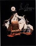 Explorers:Space Exploration, Gene Cernan Signed Apollo 17 Lunar Module Rendezvous Color Photo with Novaspace COA. ...