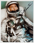 Explorers:Space Exploration, Scott Carpenter Signed Silver Spacesuit Color Photo with Photographic Provenance. ...