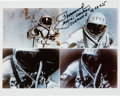 Explorers:Space Exploration, Alexei Leonov Signed First Spacewalk Color Photo Montage. ...