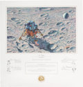 """Explorers:Space Exploration, Alan Bean Signed Limited Edition """"In Flight"""" Print, #AP56/150, also Signed by the Apollo 14 Crew, Originally from the Personal..."""