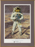 "Explorers:Space Exploration, Alan Bean Signed Limited Edition ""First Men: Neil A. Armstrong"" Giclée Paper Print, #25/200, in Framed Display. ..."