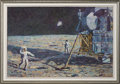 """Explorers:Space Exploration, Alan Bean Signed Limited Edition """"Lone Star"""" Textured Giclée Canvas, #36/250, in Framed Display. ..."""
