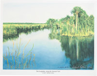 """Michael Collins Signed Limited Edition """"The Everglades, along the Tamiami Trail"""" Print, #2/100"""