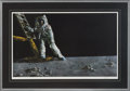 """Explorers:Space Exploration, Paul Calle Signed Limited Edition """"The Great Moment"""" Print, #209/950, in Framed Display. ..."""