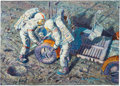 "Explorers:Space Exploration, Alan Bean Signed Limited Edition ""Fender Lovin' Care"" Giclée Canvas, #85/125. ..."