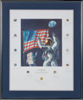 "Explorers:Space Exploration, Alan Bean Signed Limited Edition ""In the Beginning..."" Print, #AP43/150, Signed by a Total of Twenty-two Apollo Astronauts, in..."