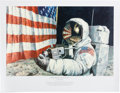 "Explorers:Space Exploration, Alan Bean Signed Limited Edition ""Straightening our Stripes"" Lithograph, #66/550. ..."