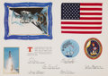 Explorers:Space Exploration, Space Shuttle Atlantis (STS-30) Flown American Flag Presentation in Framed Display....