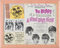 Music Memorabilia:Memorabilia, Beatles A Hard Day's Night Framed Display (United Artists, 1964)....