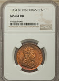 British Honduras:British Colony, British Honduras: British Colony. Edward VII Cent 1904 MS64 Red and Brown NGC,...