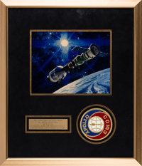 Apollo-Soyuz Test Project Flown Embroidered Project Patch Originally from the Personal Collection of Gene Cernan, with H...
