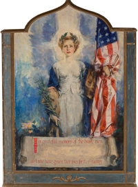Howard Chandler Christy (American, 1872-1952) In Grateful Memory of the Brave Men Who Have Given Lives for Thei