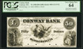 Obsoletes By State:Massachusetts, Conway, MA - Conway Bank $50 Sept. 12, 1854 Proof UNL. ...