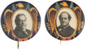 Political:Pinback Buttons (1896-present), William Howard Taft and William Jennings Bryan: Matched Pair of Golden Eagle Picture Pins.... (Total: 2 Items)