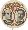 """Political:Pinback Buttons (1896-present), Bryan & Kern: Choice Example of the Largest Size 2 1/8"""" Gold-Filigree Jugate...."""