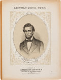 Political:Small Paper (pre-1896), Abraham Lincoln: Presidential Pictorial Sheet Music....