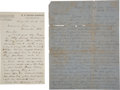 Autographs:Military Figures, Four Letters Relating to Union POWs....