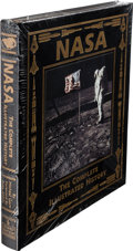 Explorers:Space Exploration, Buzz Aldrin Signed Leather-Bound Limited Edition Book (Still Sealed): NASA, The Complete Illustrated History, Orig...