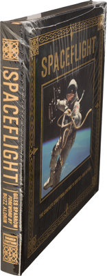 Buzz Aldrin Signed Leather-Bound Limited Edition Book (Still Sealed): Spaceflight, Originall